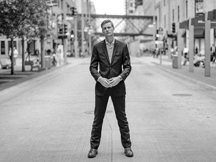 Man standing in street